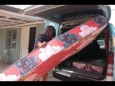 George Nooks donated 18 mattresses to The Golden Age Home.