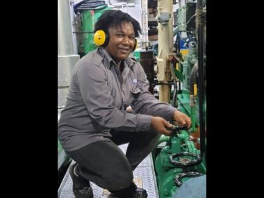 Tameika Bucknor-Lynch, second marine engineer at the Port Authority of Jamaica.
