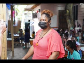 Melissa Powell has offered up her yard as a makeshift homework centre for children  in her community of Waterhouse, St Andrew.