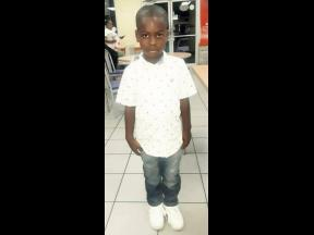 Six-year-old Jadaine Miller, who was shot dead yesterday.