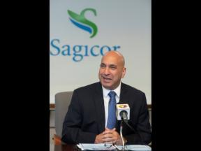 File  Christopher Zacca, president and CEO of Sagicor Group Jamaica Limited.