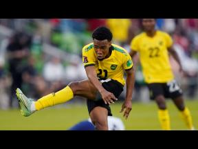 Jamaica's Tyreek Magee during a FIFA World Cup qualifying match against the United States, in Austin, Texas on Thursday, October 7.