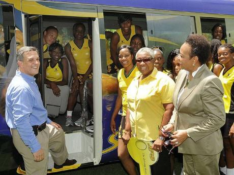 Jps Revs Up Jna With New Bus Sports Jamaica Gleaner