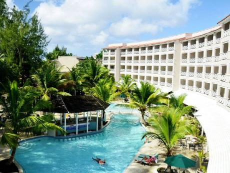 S Ing Second Largest Hotel In Barbados Business Jamaica Overhead Pool Casuarina Beach Resort