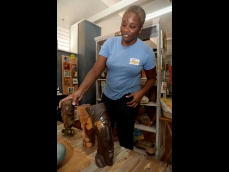 Roena Williams talks about the uniqueness of the handcrafted pieces at Art Connect Ja.