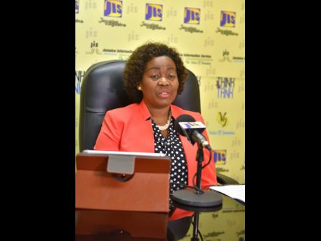 President of the Business Process Industry Association of Jamaica (BPIAJ), Gloria Henry, announces the launch of the Outsource2Jamaica Symposium and Expo 2019.