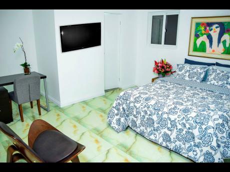 A room inside the Pulse Centre boutque hospitality property at Trafalgar Road, New Kingston.