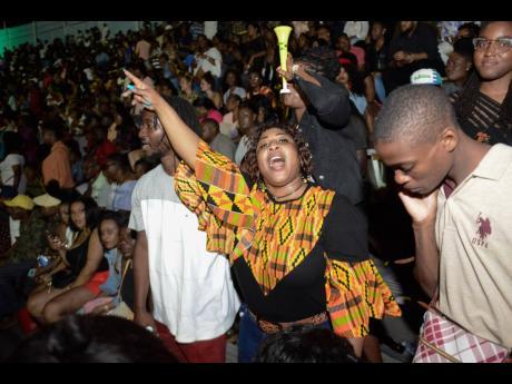 Patrons enjoying the performances at Buju Banton's Long Walk to Freedom concert.