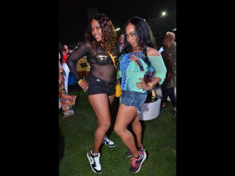 Le'Dor Milteer (right), Atlanta politician and former rapper, and her friend, Sarah.