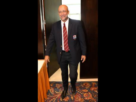 Ricky Skerritt arriving prior to the Cricket West Indies Annual General Meeting and elections, held at the Jamaica Pegasus Hotel today.