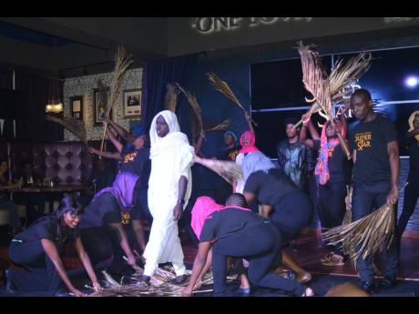 Actors from First Dance Studios perform a piece from the Broadway musical 'Jesus Christ Superstar' during the musical's media launch at the Hard Rock Café in Montego Bay on Thursday evening.