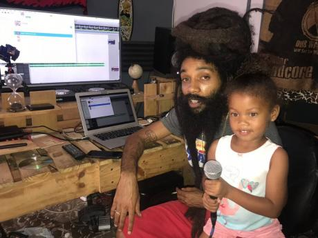 Yaadcore and his daughter.
