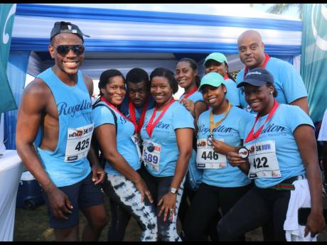 The Royalton White Sands group poses for the camera at the sixth annual MoBay City Run.