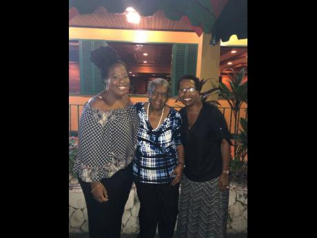 From left: Courtni Jackson, her grandmother Barbara Smith, and mother karen.