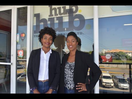 Managing Director of Kingston Hub Coworking Joelle Smith (left) and Managing Director of Kingston Creative Andrea Dempster Chung.