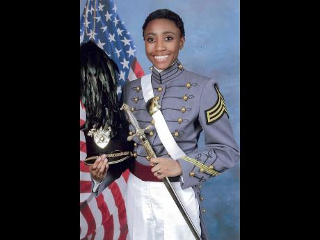Kate Campbell, graduate of West Point with Jamaican family roots.
