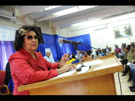 Marigold Harding, chairman of the Edna Manley College board.