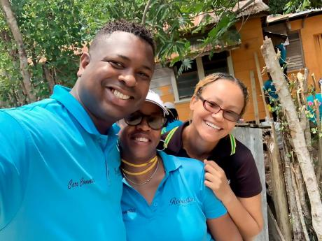 From left: Shawn Moses, Junior general manager, Royalton Blue Waters; Felecia Falconer, quality manager; and Kaleisha Wiggan, guest relations director