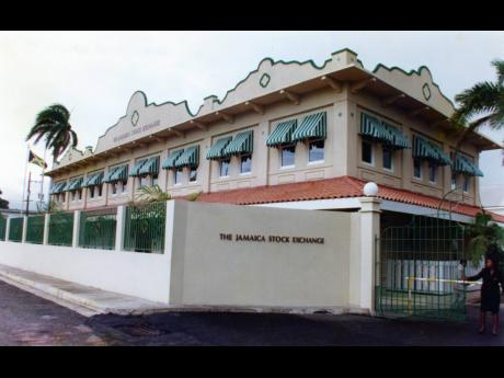 The headquarters of the Jamaica Stock Exchange on Harbour Street, Kingston.