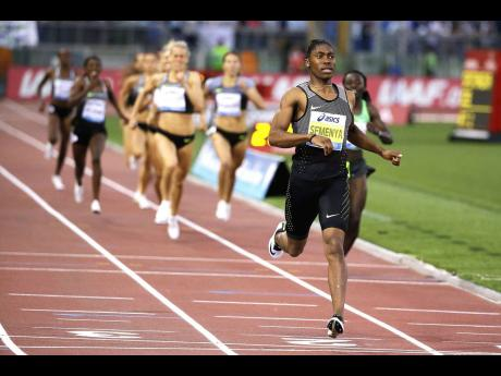 South Africa's Caster Semenya crosses the finish line after winning the the women's 800m event at the Golden Gala IAAF athletic meeting in Rome's Olympic Stadium on Thursday, June 2, 2016.