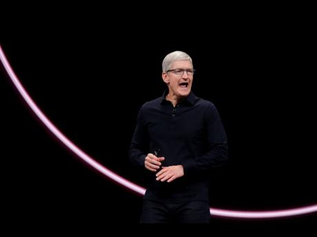 Apple CEO Tim Cook speaks at the Apple Worldwide Developers Con-ference in San Jose, California, on Monday, June 3.
