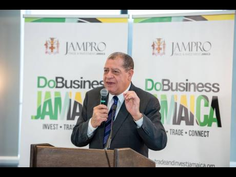 Audley Shaw, minister of Industry, Commerce, Agriculture and Fisheries speaks to attendees at the Doing Business in Jamaica luncheon that was hosted in Philadelphia, Pennsylvania, recently. Contributed