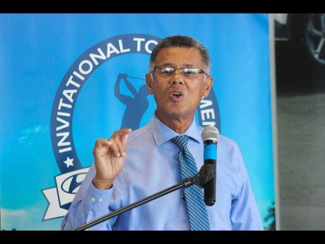 Jamaica Golf Association president Peter Chin