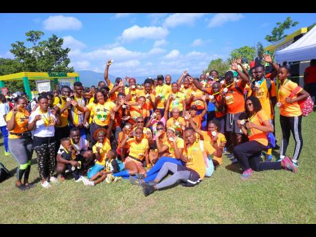 Currently in the lead, team Rainforest Seafoods came out in full force and dominated the Tru-Juice 5K Run/Walk and 20K Cycle at the Tru-Juice orchards in Bog Walk, St Catherine, with more than 100 participants.