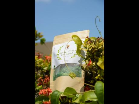 Herbal Green Tea Scrub not only feels good but it is good for you.