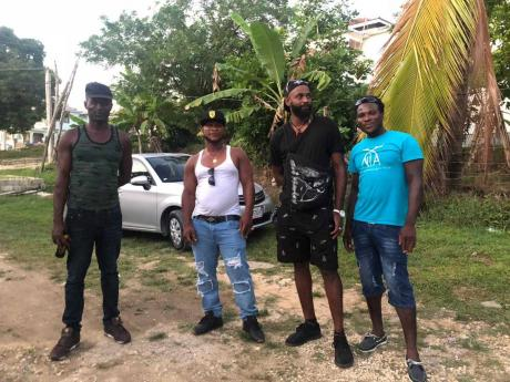 From left: David Williams, Patrick Ferguson, Luther Patterson and Robert Weir, four of the five Jamaican fishermen, One of five Jamaican fishermen who accuse the United States Coast Guard of holding them captive in inhumane conditions on several vessels for a month in 2017.