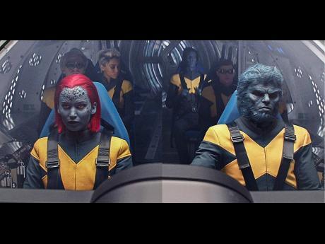 Nicholas Hoult, Evan Peters, Jennifer Lawrence, Kodi Smit-McPhee, Alexandra Shipp, and Tye Sheridan in 'Dark Phoenix'.