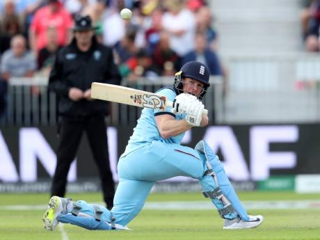England's captain Eoin Morgan during the ICC World Cup match against Afghanistan at Old Trafford in Manchester, England, yesterday.