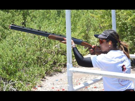Wendy McMaster, winner of the Ladies section of the Toyota Cup Sporting Clays Championship at the Jamaica Skeet Club in Portmore, St Catherine on Sunday.