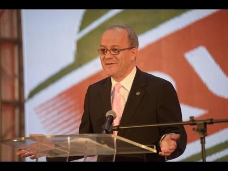 CEO of Rubis Energy Jamaica Alain Carreau speaks at the company's 5th anniversary cocktail reception at the Spanish Court Hotel in New Kingston on Thursday, June 20, 2019.