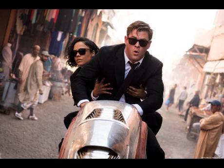 Chris Hemsworth and Tessa Thompson in 'Men In Black: International'.