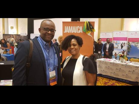 Director of Tourism Donovan White and Deputy Director of Tourism-Marketing Camile Glenister met with media representatives at the Caribbean Media Marketplace.