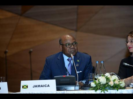 Minister of Tourism, Edmund Bartlett at the 110th Executive Council Meeting of the UNWTO