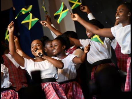 Members of The Ashe Company performing recently at the opening ceremony for the 8th biennial Jamaica Diaspora Conference, at The Jamaica Pegasus  hotel.