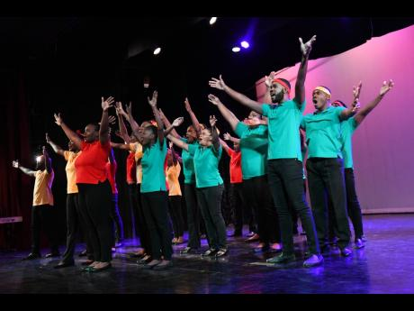 University Singers in concert recently at the Philip Sherlock Centre for the Creative  Arts, UWI.