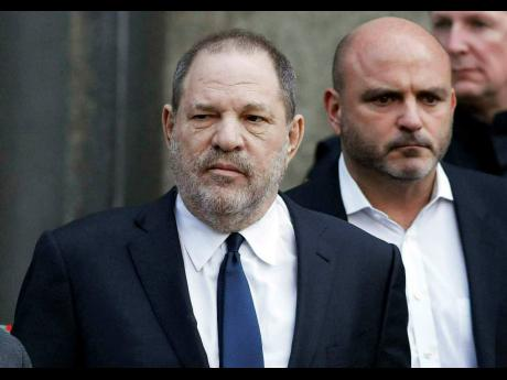 Harvey Weinstein pictured leaving the New York Supreme Court last year, where his lawyers were arguing against the sex trafficking claims of an actress who the disgraced movie-making mogul said was capitalising on the legal successes of other women.