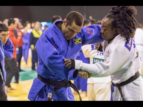 Jamaica's Devin Waldenburg (left) and Pan-American Games 2019 qualifier Ebony Drysdale-Daley.