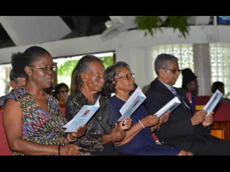 RighT:  The family of lecturer Samuel Martin (from left) Monica Lawrence, Sarah Parker, Ruth Coke (adopted mother) and Rev Raymond Coke (adopted father).