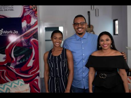 From left: Jamila Pinto and P.J. Wright along with host of Web-based series Iconic Living, Natalie Outar.