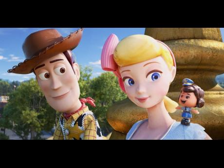 Woody and Bo Peep reunite in Toy Story 4.
