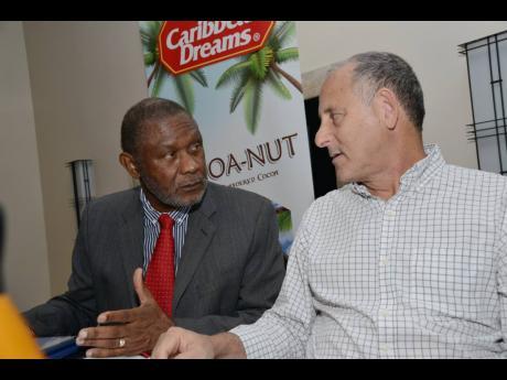 Chairman of QWI Limited John Jackson (left) and Managing Director John Mahfood.