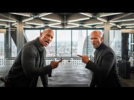 Dwayne Johnson (left) and Jason Statham in 'Fast and Furious: Hobbs and Shaw'.