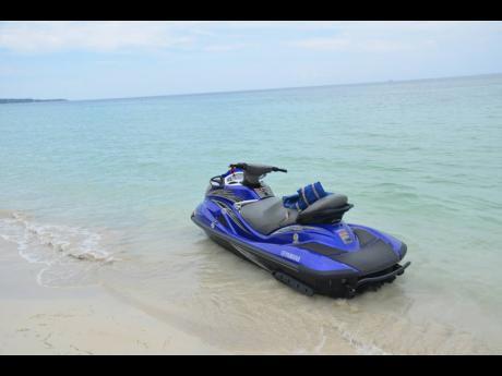 A jet ski on the beach Negril.
