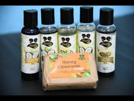 Shevielle product line includes natural hair oils and face soaps.