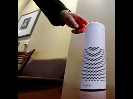 An Amazon Alexa device.