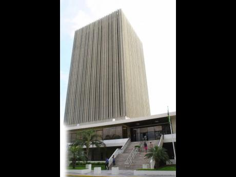 Bank of Jamaica building in downtown Kingston